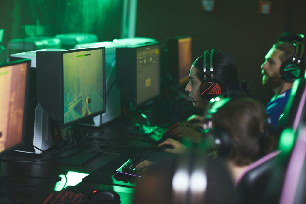 Participating in cyber game